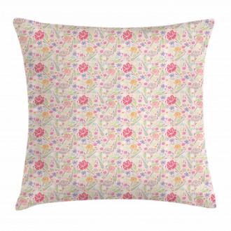Delicate Spring Garden Peony Pillow Cover