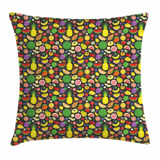 Tropical Nature Food Summer Pillow Cover