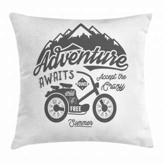 Mountains Bike Pillow Cover