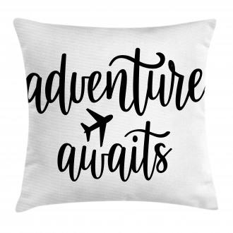 Travel Typography Pillow Cover