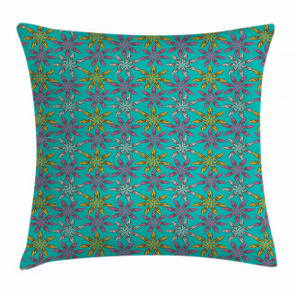 Colorful Abstract Petals Pillow Cover