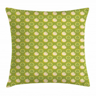 Sliced Fresh Fruits Pattern Pillow Cover