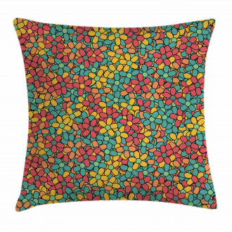 Retro Colored Doodle Pillow Cover