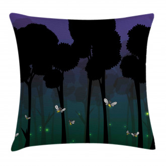 Woodland Night Cartoon Kids Pillow Cover