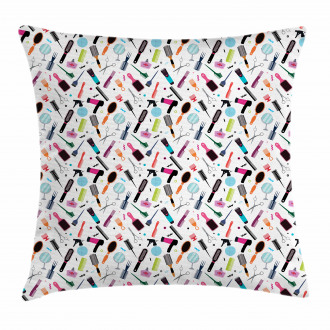 Hair Brushes and Combs Pillow Cover