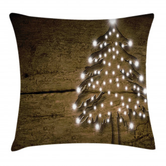 Bokeh Ornaments on Tree Pillow Cover