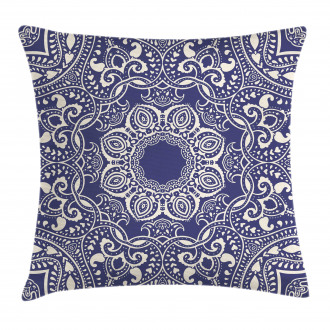 Artistic and Curly Leaves Pillow Cover