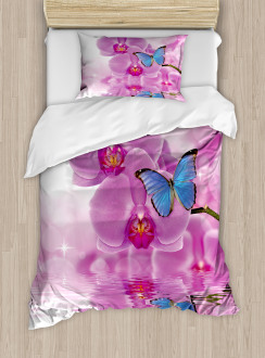 Orchid Bloom on Water Duvet Cover Set