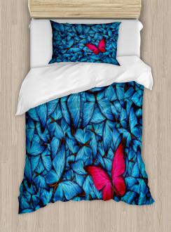 Large Bugs Lepidoptera Duvet Cover Set