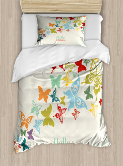 Butterfly Dots Timber Duvet Cover Set