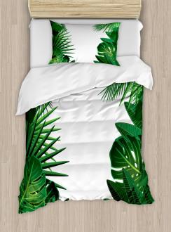 Tropical Exotic Palms Duvet Cover Set