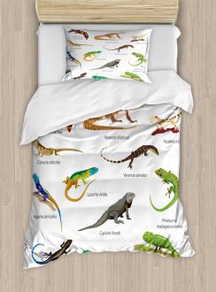 Exotic Lizard Reptiles Duvet Cover Set