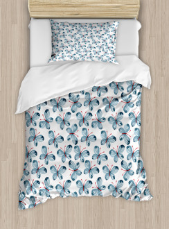 Floral Butterflies Duvet Cover Set