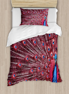 Peacock Bird Surreal Duvet Cover Set