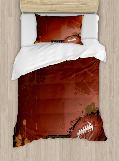 American Football Art Duvet Cover Set