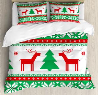 Holiday Season Deer Duvet Cover Set