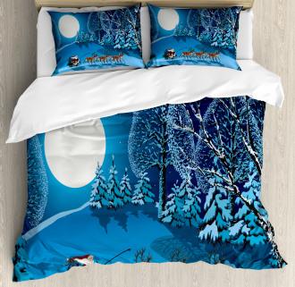 Santa Winter Forest Duvet Cover Set