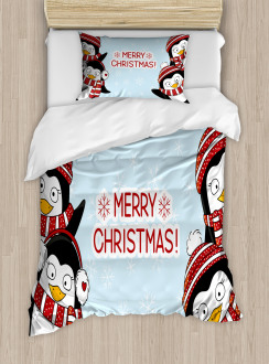 Cute Penguins Kids Duvet Cover Set