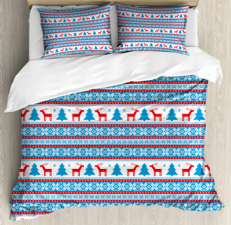 Folk Knit Style Art Duvet Cover Set