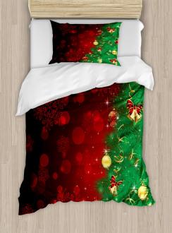 Jingle Bells Trees Duvet Cover Set