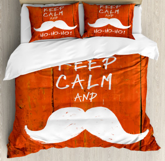 Keep Calm Humor Quote Duvet Cover Set