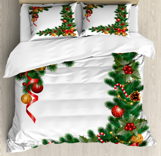 Trees with Ornaments Duvet Cover Set