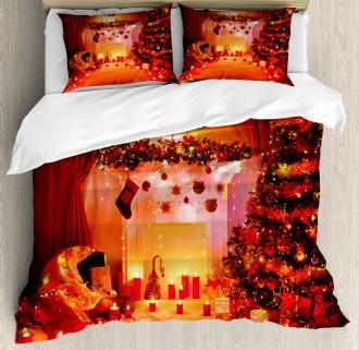 Noel New Years Theme Duvet Cover Set