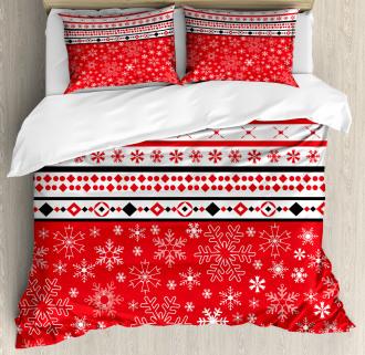 Geometric Snowflakes Duvet Cover Set
