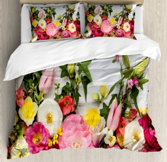 Rustic Home Rose Flowers Duvet Cover Set