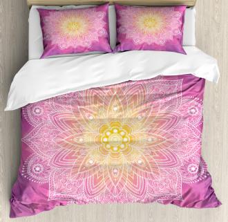 Asian Mandala Floral Art Duvet Cover Set