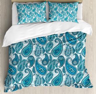 Ocean Stripe and Flower Duvet Cover Set