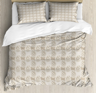 Abstract Geometric Buds Duvet Cover Set