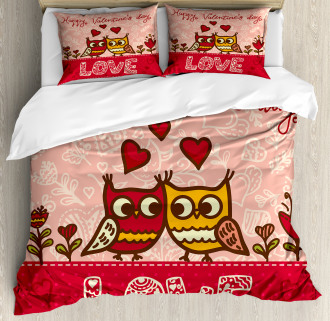 Owls Love Heart Duvet Cover Set