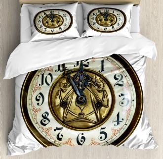 Antique Clock with Face Duvet Cover Set
