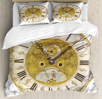 Ornamental Roman Digits Duvet Cover Set