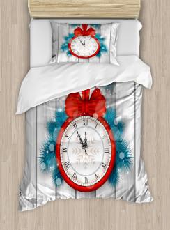 Midnight Clock Pine Duvet Cover Set