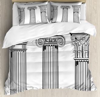 Antique Column Capitals Duvet Cover Set