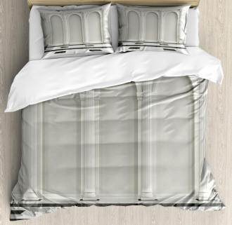 Classic Interior Column Duvet Cover Set