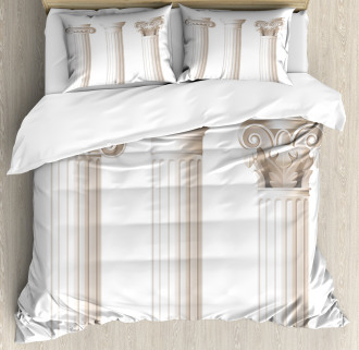 Ionic Doric and Marbles Duvet Cover Set