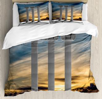Sunset Modern Antique Duvet Cover Set
