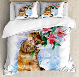 Cute Baby Kitten Duvet Cover Set
