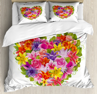 Flower Rose Leaf Duvet Cover Set