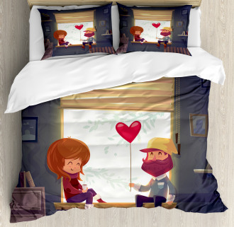 Love Romantic Couple Duvet Cover Set