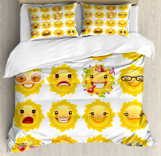 Smile Surprise Angry Mood Duvet Cover Set