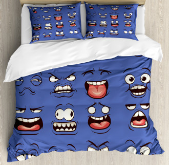 Surprised Sad Fierce Mood Duvet Cover Set