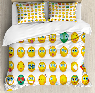 Couple Monster Face Moods Duvet Cover Set