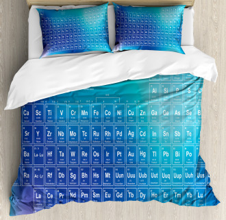 Chemistry Element Table Duvet Cover Set