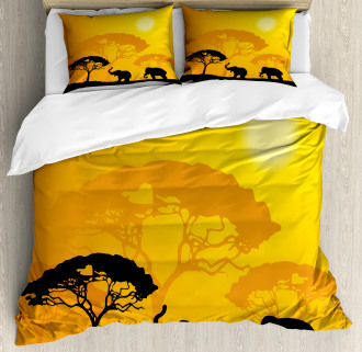 Africa Abstract Wildlife Duvet Cover Set