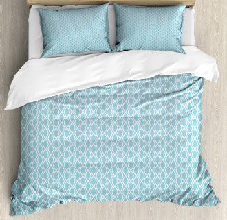 Wavy Water Lines Circled Duvet Cover Set