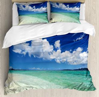Island Sealife Wavy Sunny Duvet Cover Set